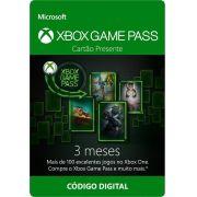 Cartão Xbox Game Pass 3 Mês