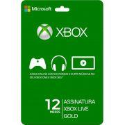 Xbox Live Gold Card 12 Meses - Brasil