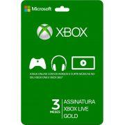 Xbox Live Gold Card 3 Meses - Brasil