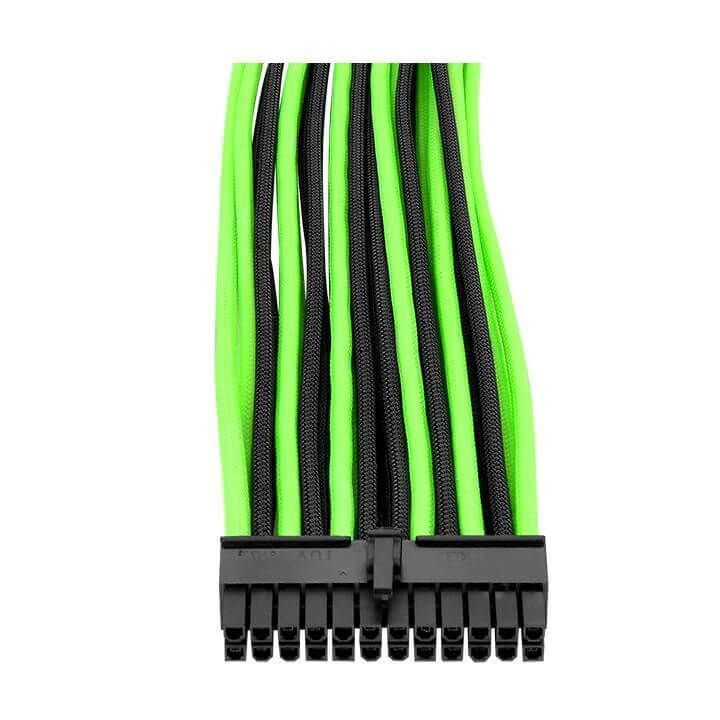 Cabo Sleeved Ttmod Verde E Preto Ac-034- Thermaltake  -  Games Lord