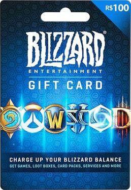 Cartao Blizzard Battle.net R$ 100 Reais  -  Games Lord