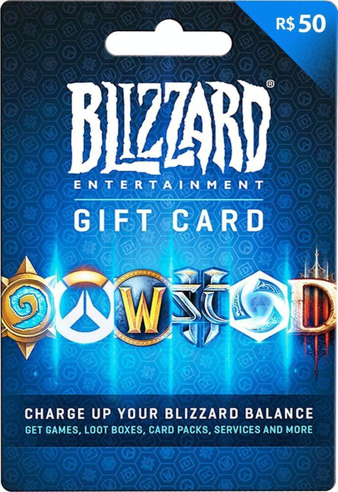Cartao Blizzard Battle.net R$ 50 Reais  -  Games Lord