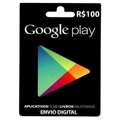 Cartão Google Play R$100 - Brasil  -  Games Lord