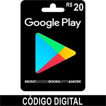 Cartão Google Play R$20 - Brasil  -  Games Lord