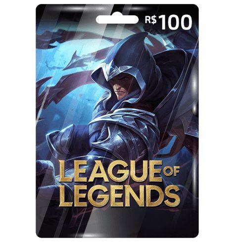 Cartão League Of Legends R$100  -  Games Lord