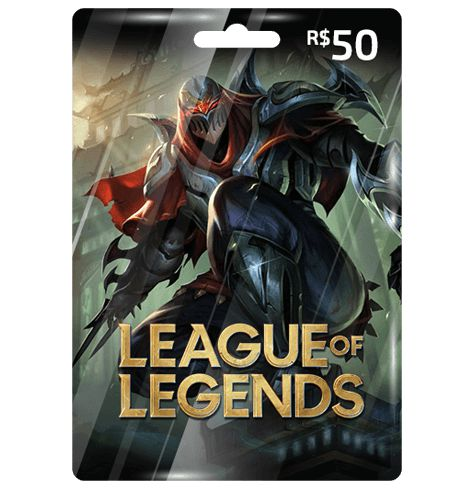 Cartão League Of Legends R$50  -  Games Lord