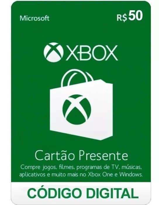 Cartão Presente Xbox R$ 50  -  Games Lord