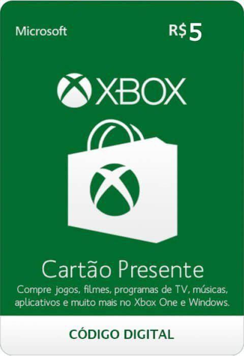 Cartão Presente Xbox R$ 5  -  Games Lord