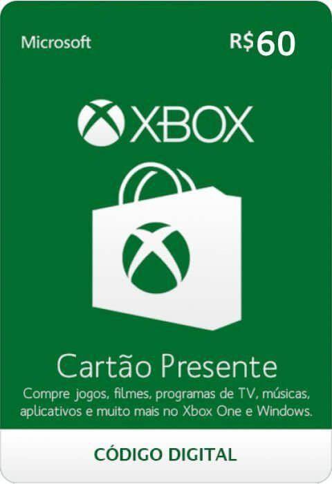 Cartão Presente Xbox R$ 60  -  Games Lord