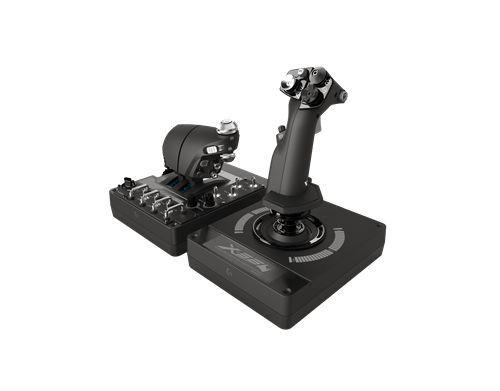 Controle De Simulação Com Manete E Stick Rgb X56 H.O.T.A.S Saitek  -  Games Lord