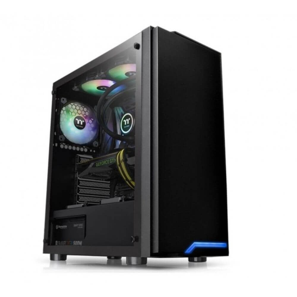 Gabinete Gamer Thermaltake H100 Vidro Temperado  -  Games Lord