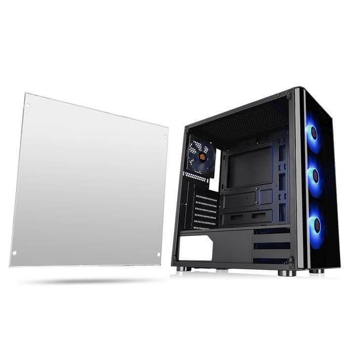 Gabinete Gamer Thermaltake V200 RGB, Mid Tower,Vidro temperado CA-1K8-00M1WN-01  -  Games Lord