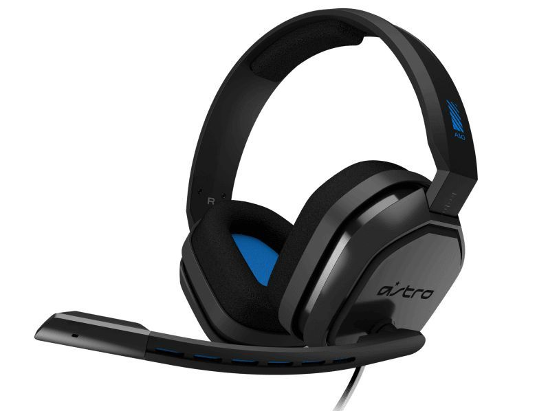 Headset Gamer Astro A10 - Playstation - GREY/BLUE  -  Games Lord