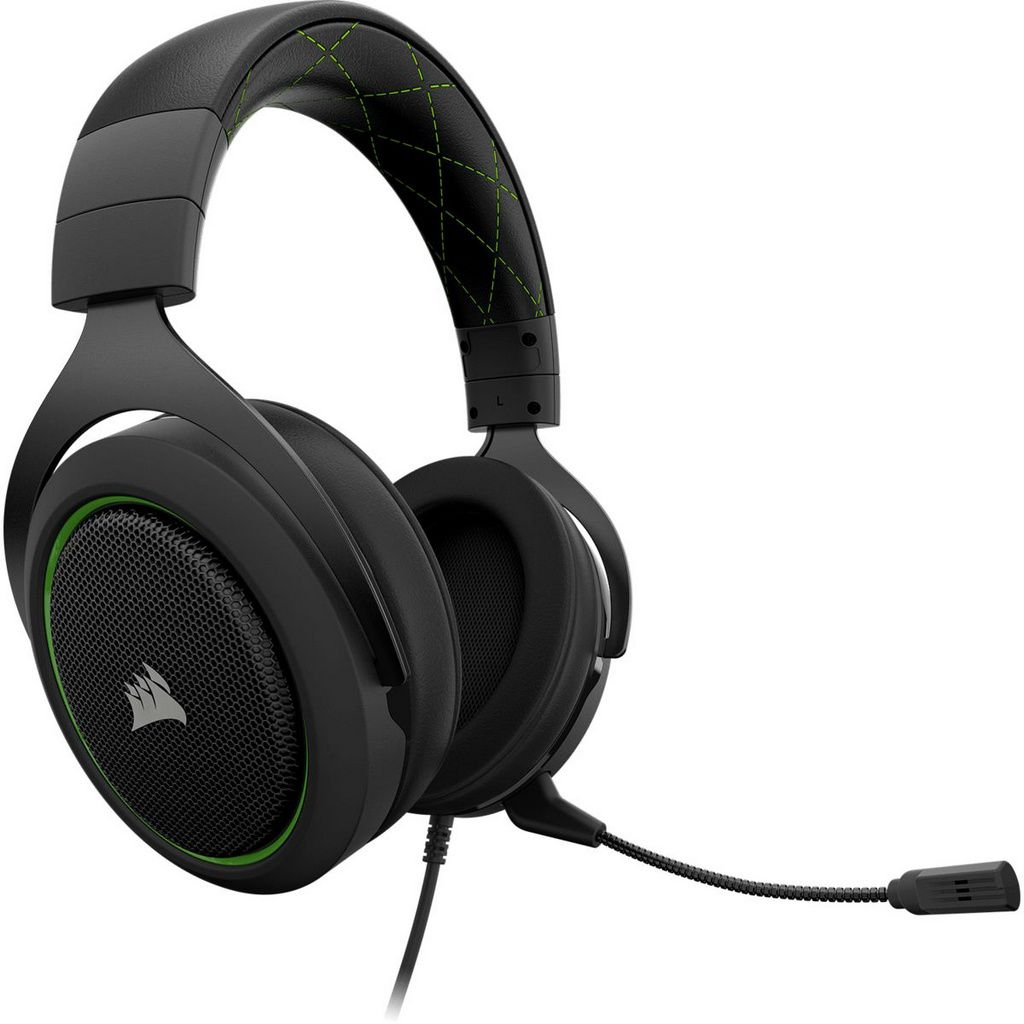 Headset Gamer Corsair HS50 Pro Stereo Green  -  Games Lord