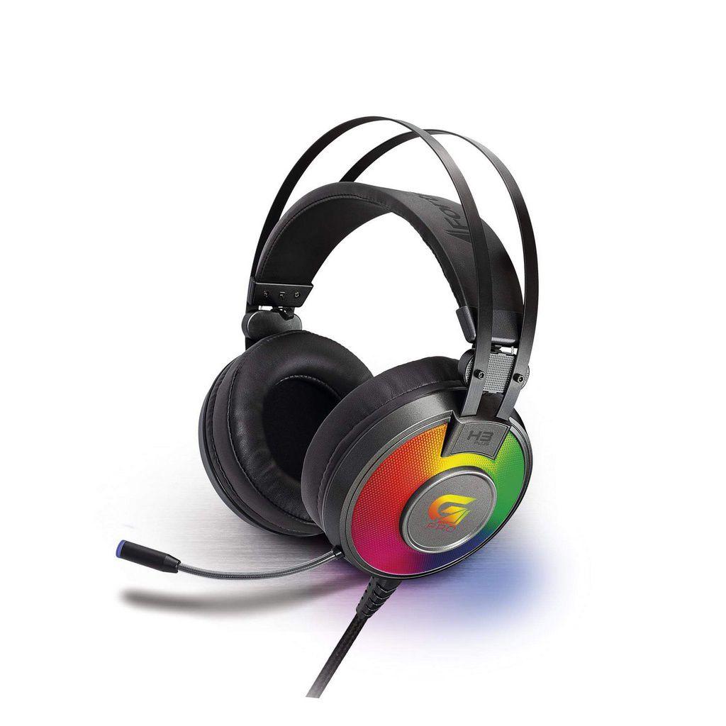 Headset Gamer Rgb G Pro H3+ 7.1 Cinza  -  Games Lord