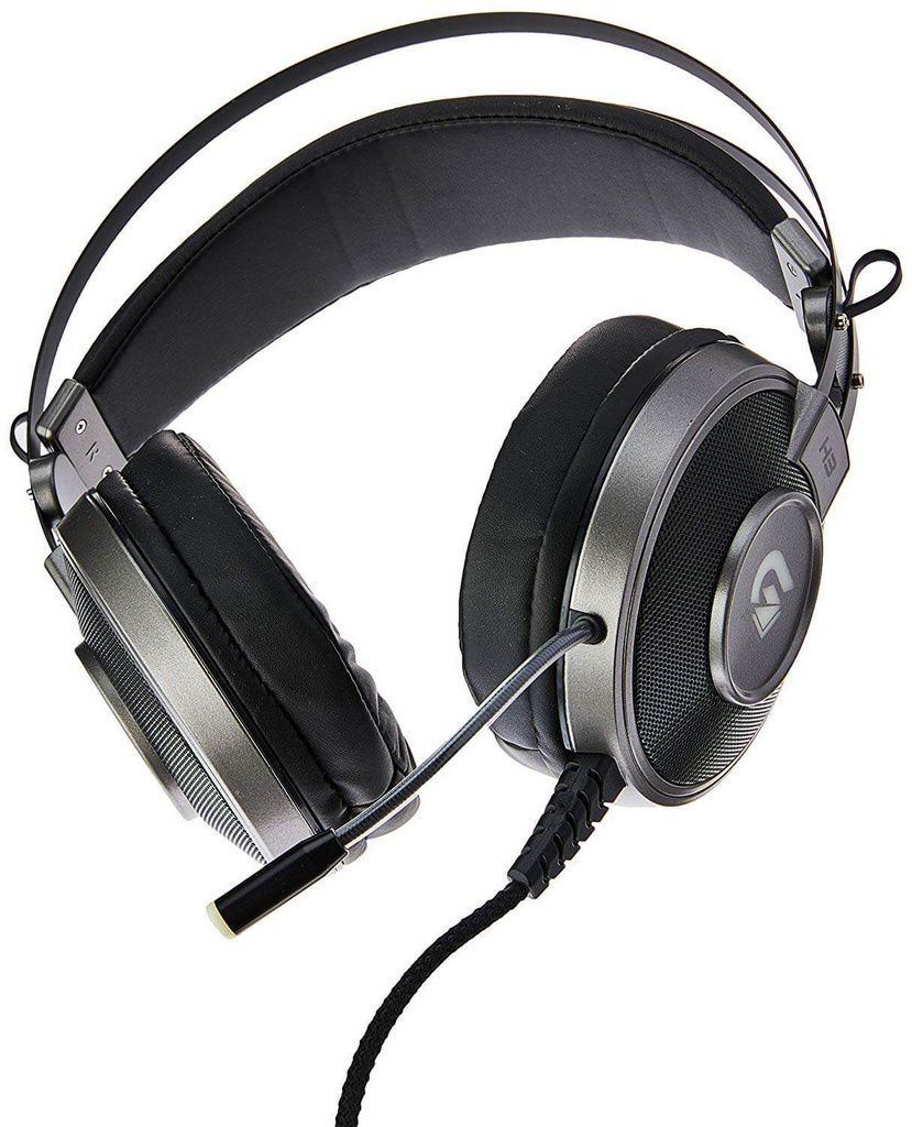 Headset Gamer Rgb H1 Pro Cinza  -  Games Lord