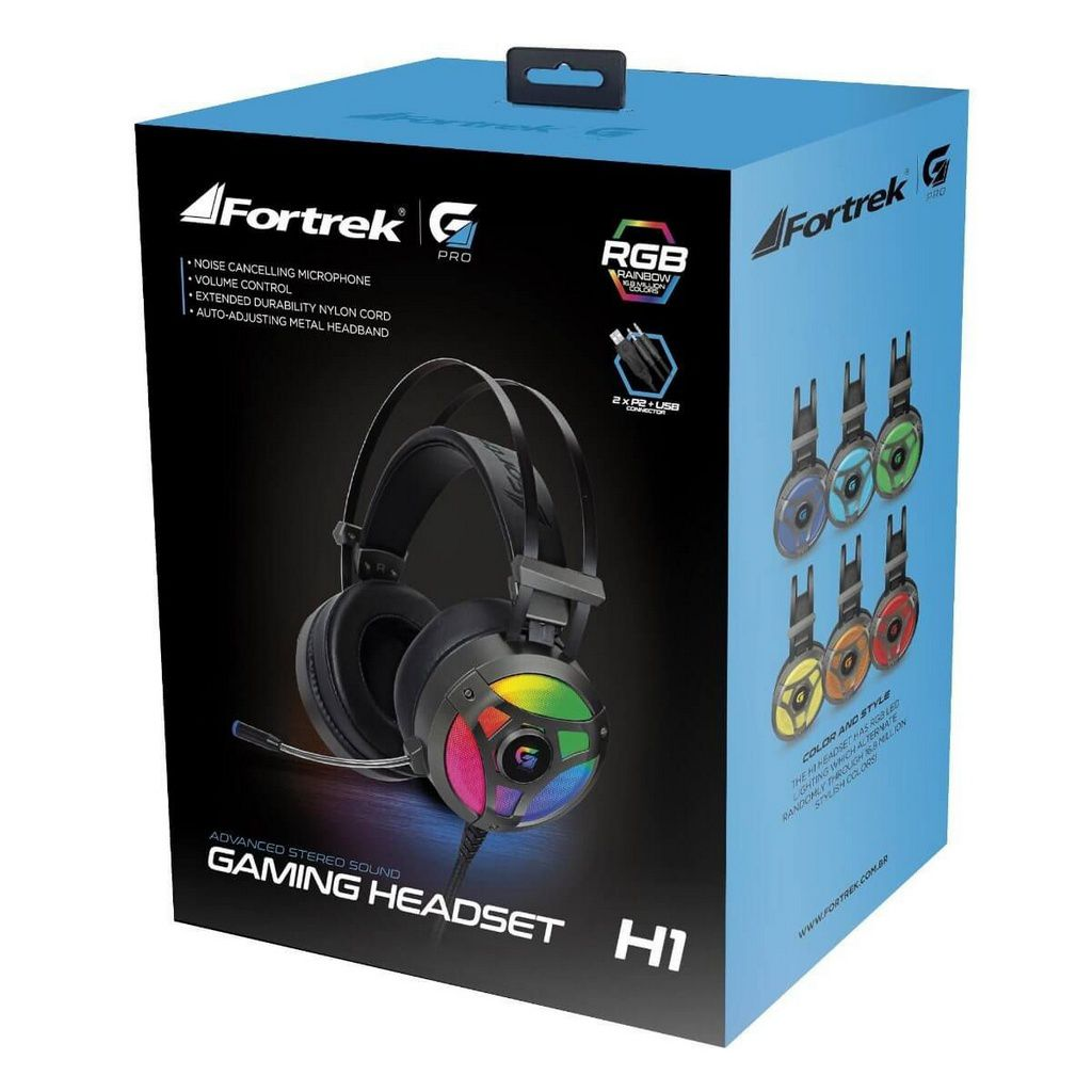 Headset Gamer Rgb H1 Pro Cinza  -  Games Lord