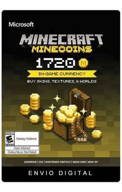 Minecraft Minecoins 1720 Moedas Gift Card  -  Games Lord