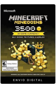 Minecraft Minecoins 3500 Moedas Gift Card  -  Games Lord