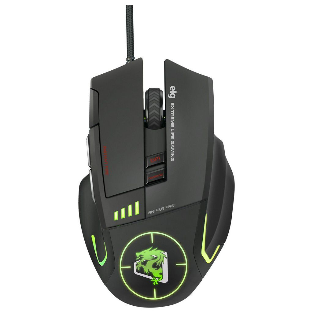 Mouse Gamer Sniper Pro 5200 Dpi  -  Games Lord