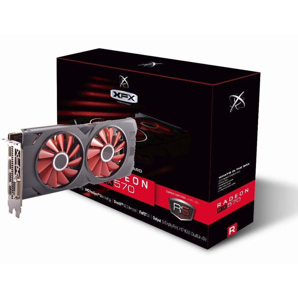 Placa de Vídeo AMD Radeon RX 570 8GB DDR5 PCI-E 3.0 RX-570P8DFD6 - XFX  -  Games Lord