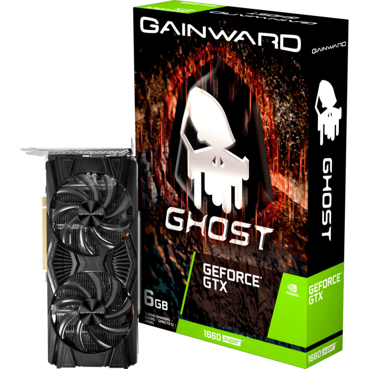 Placa de Vídeo NVIDIA GeForce GTX 1660 Ghost 6GB GDDR5 PCI-E 3.0  -  Games Lord