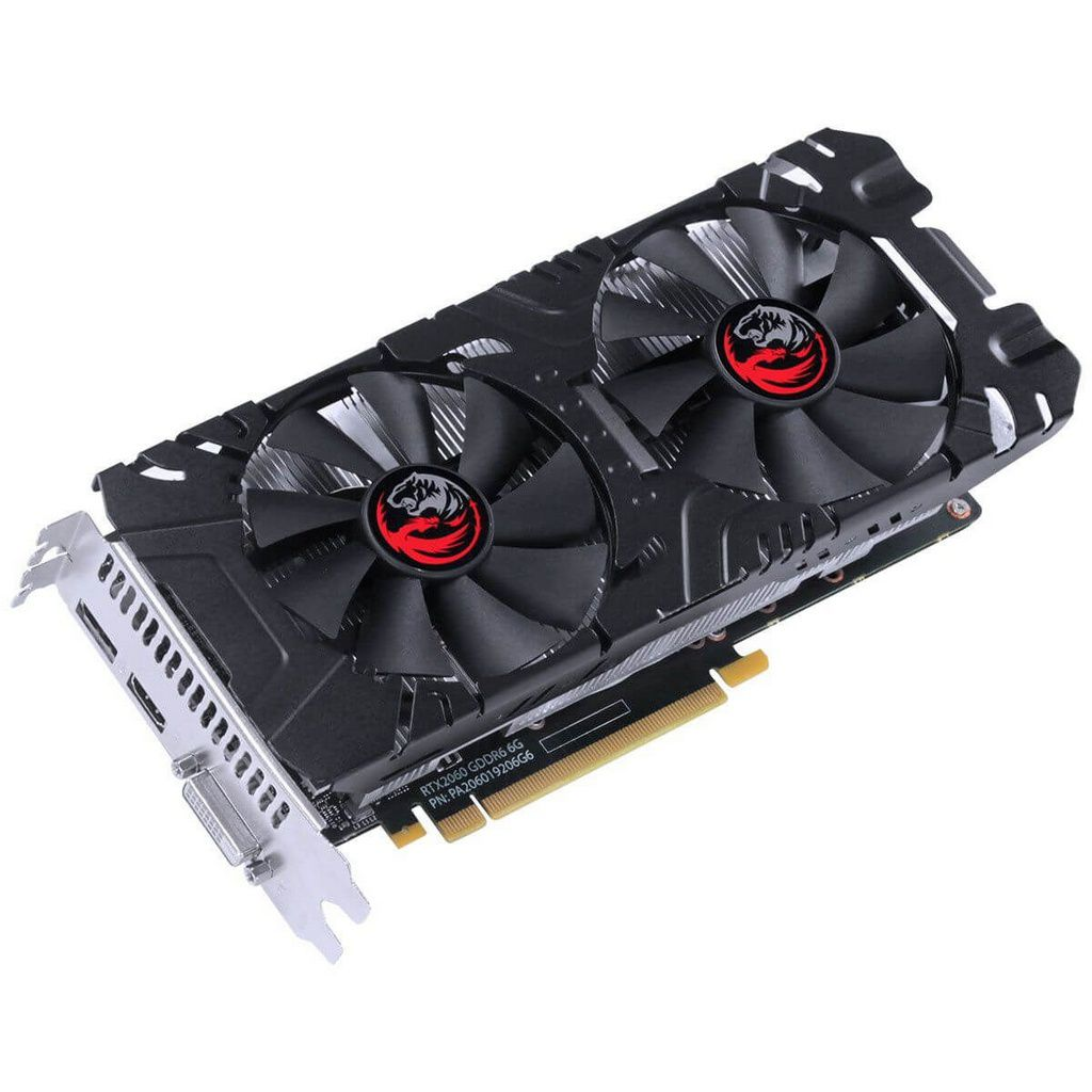 Placa De Video Pcyes Geforce Rtx 2060 6gb Gddr6 192 Bits Dual-Fan Graffiti Series  -  Games Lord