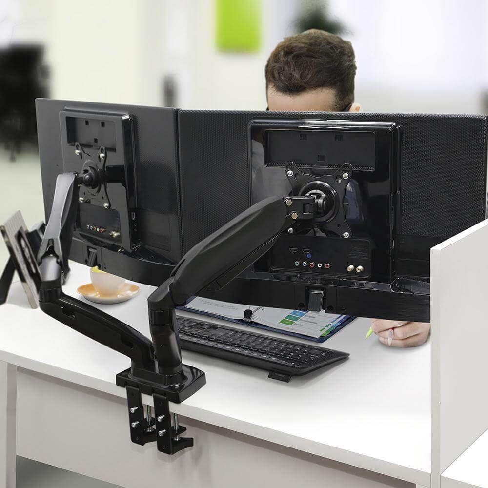 Suporte Articulado De Mesa Para 2 Monitores - F160n  -  Games Lord