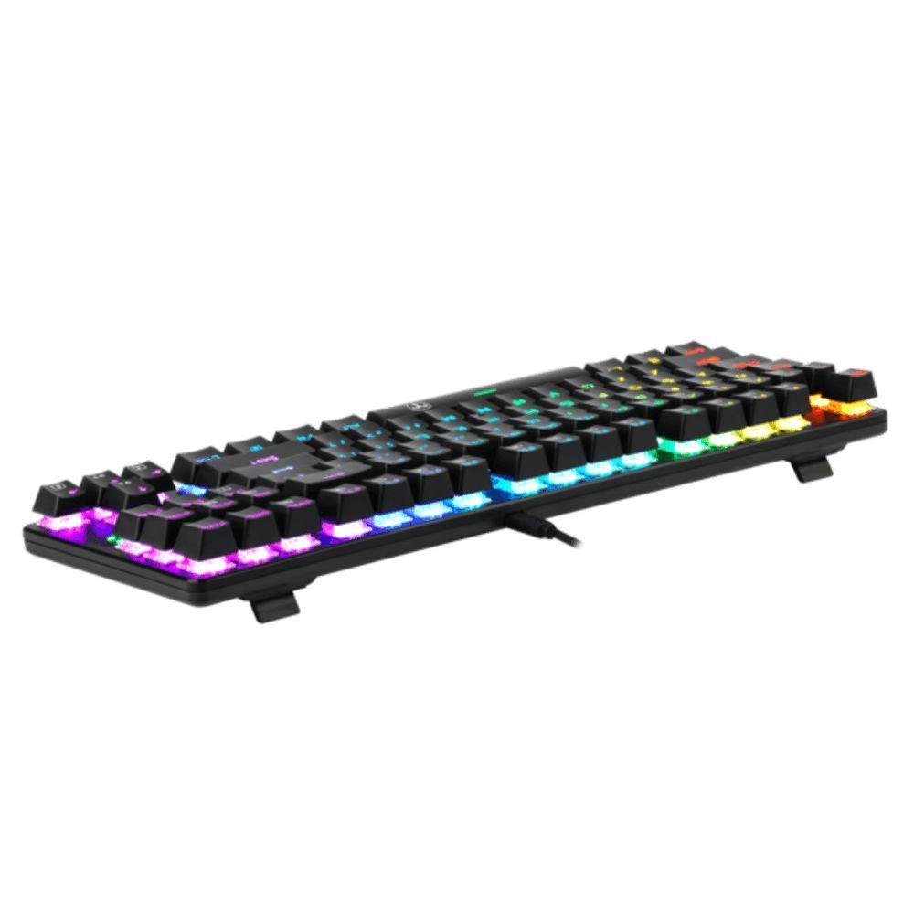 Teclado Mecânico Gamer T-Dagger Bora RGB T-TGK315 Blue  -  Games Lord