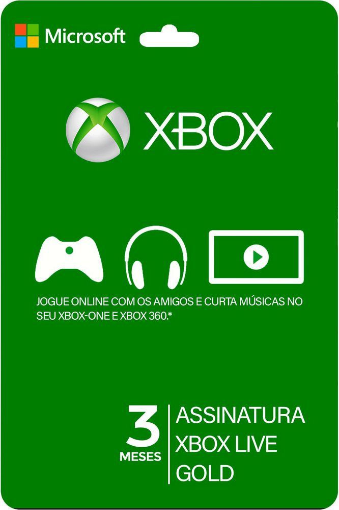 Xbox Live Gold Card 3 Meses - Brasil  -  Games Lord