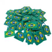 Bandeirinha do brasil com 50 unidades
