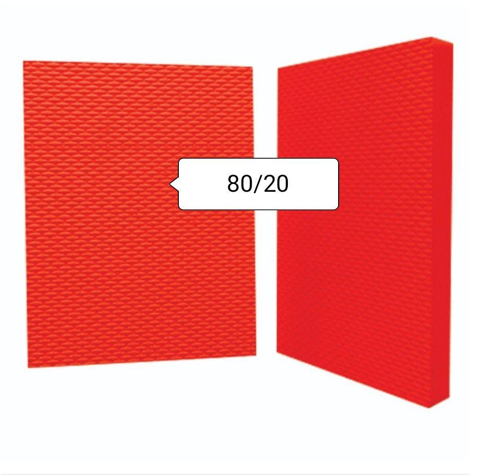 Placa de Borracha 80/20 Tamanho 0,50 x 0,40 cm