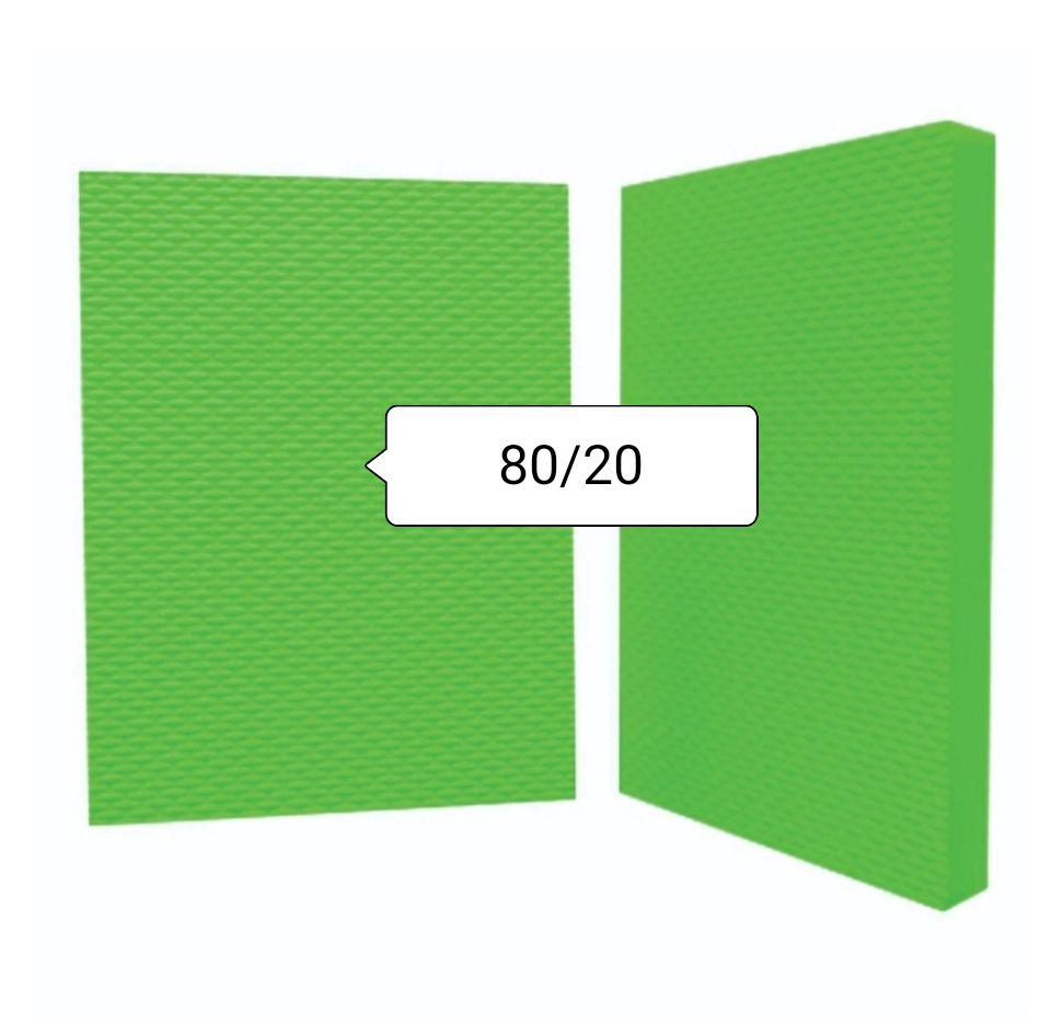 Placa de Borracha 80/20 Tamanho 1,15 x 0,85 cm