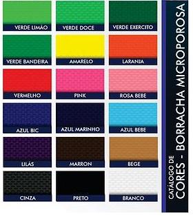 Placa de Borracha Micro porosa  Monocolor 80/20