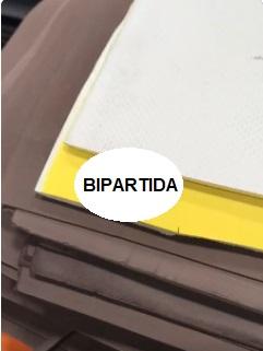 PLACA DE BPRRACHA 90/10 BI PARTIDA