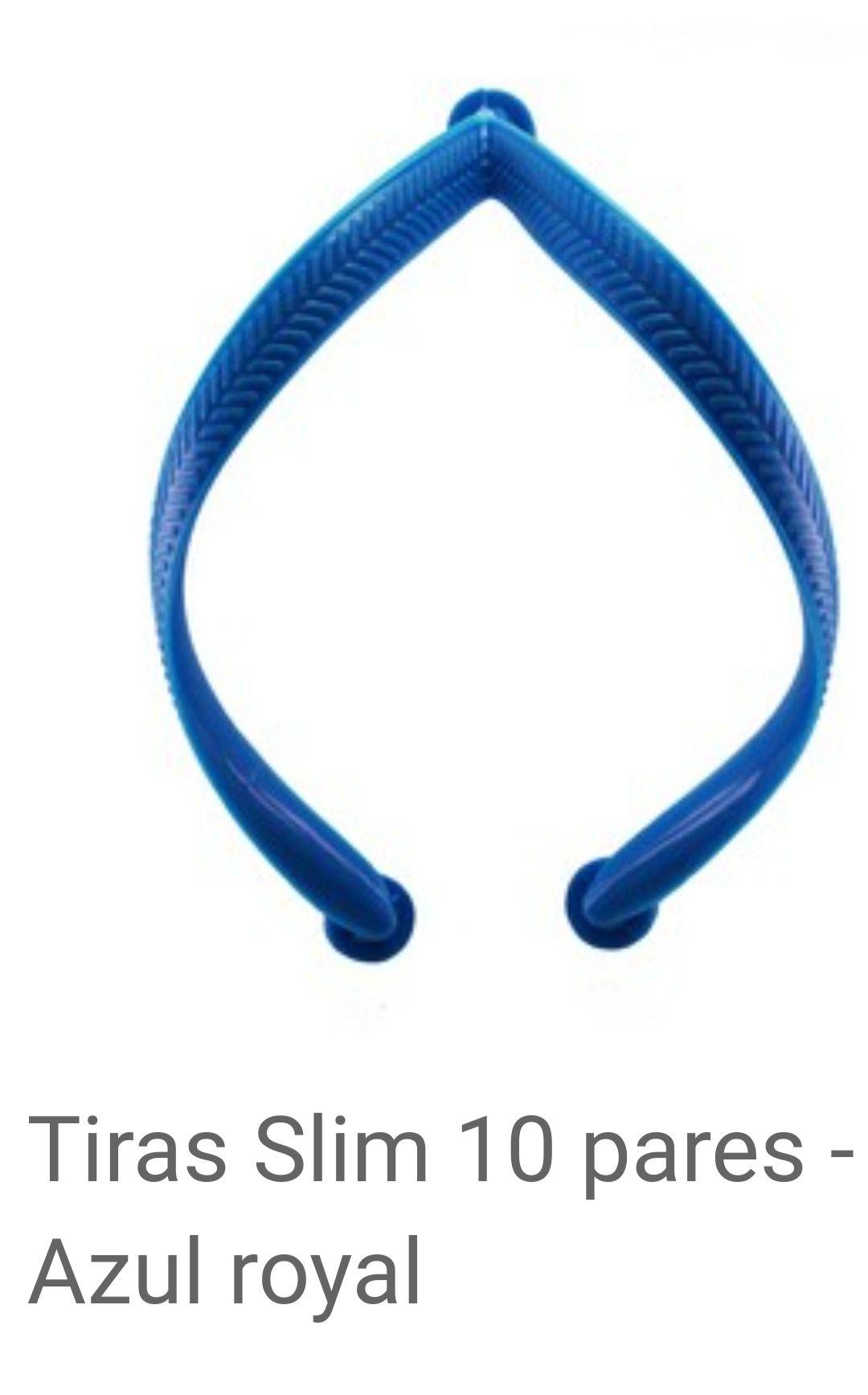Tiras slim Azul Royal com 10 pares
