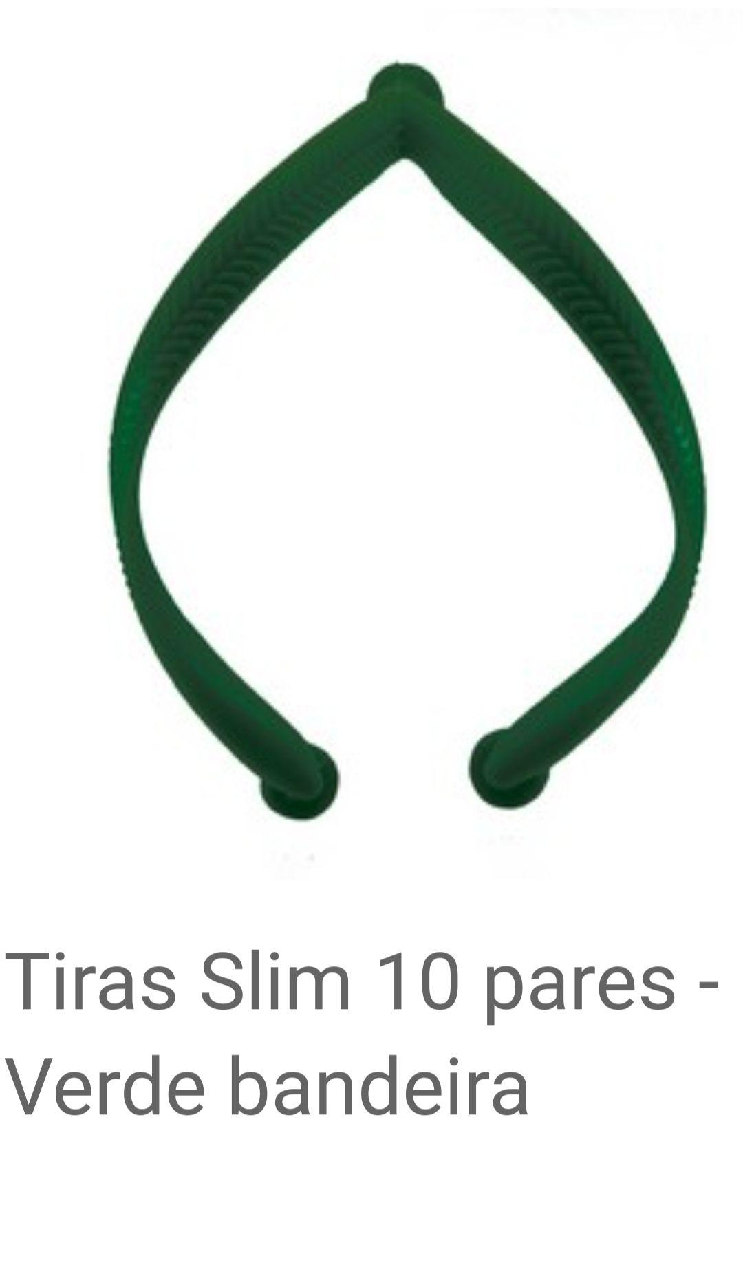 Tiras slim Verde Bandeira com 10 pares
