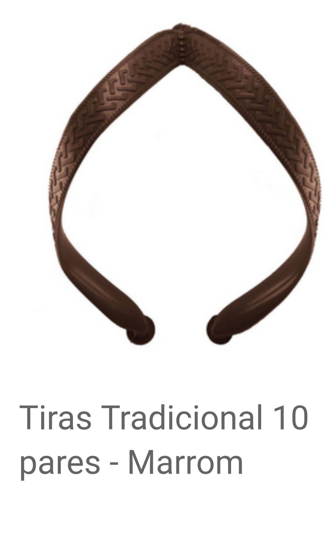 Tiras Tradicional MARROM com 10 pares