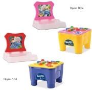 Cadeirinha Multi-Atividades Smurf Samba Toys Brinquedo Infantil