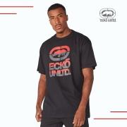 Camiseta Masculina Preta Estampada Plus Size Ecko Unltd