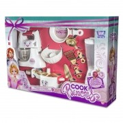 Kit Cook Princess kit c/ 8 Peças Brinquedo Zuca Toys
