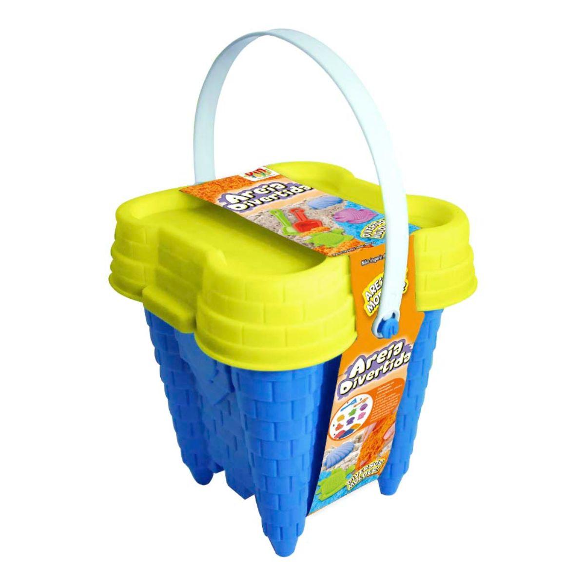 Areia Divertida Balde Castelo DM Toys Infantil