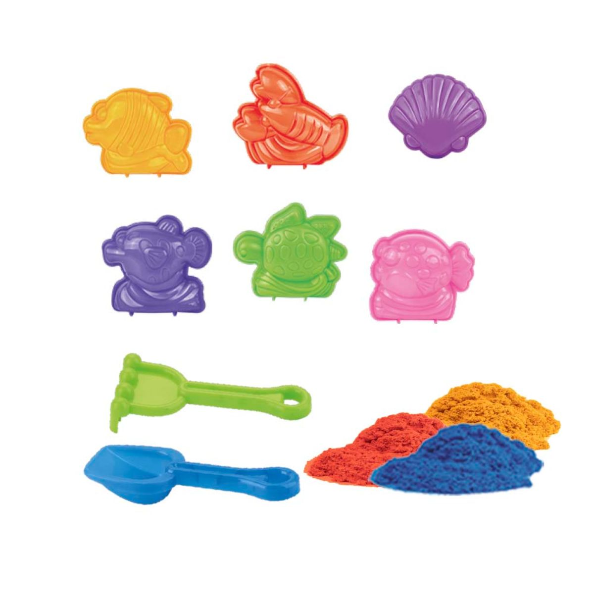 Areia Cinética Massinha de Areia Massa de Areia Areia Mágica Areia Divertida Areia Mágica Balde Castelo DM Toys Infantil