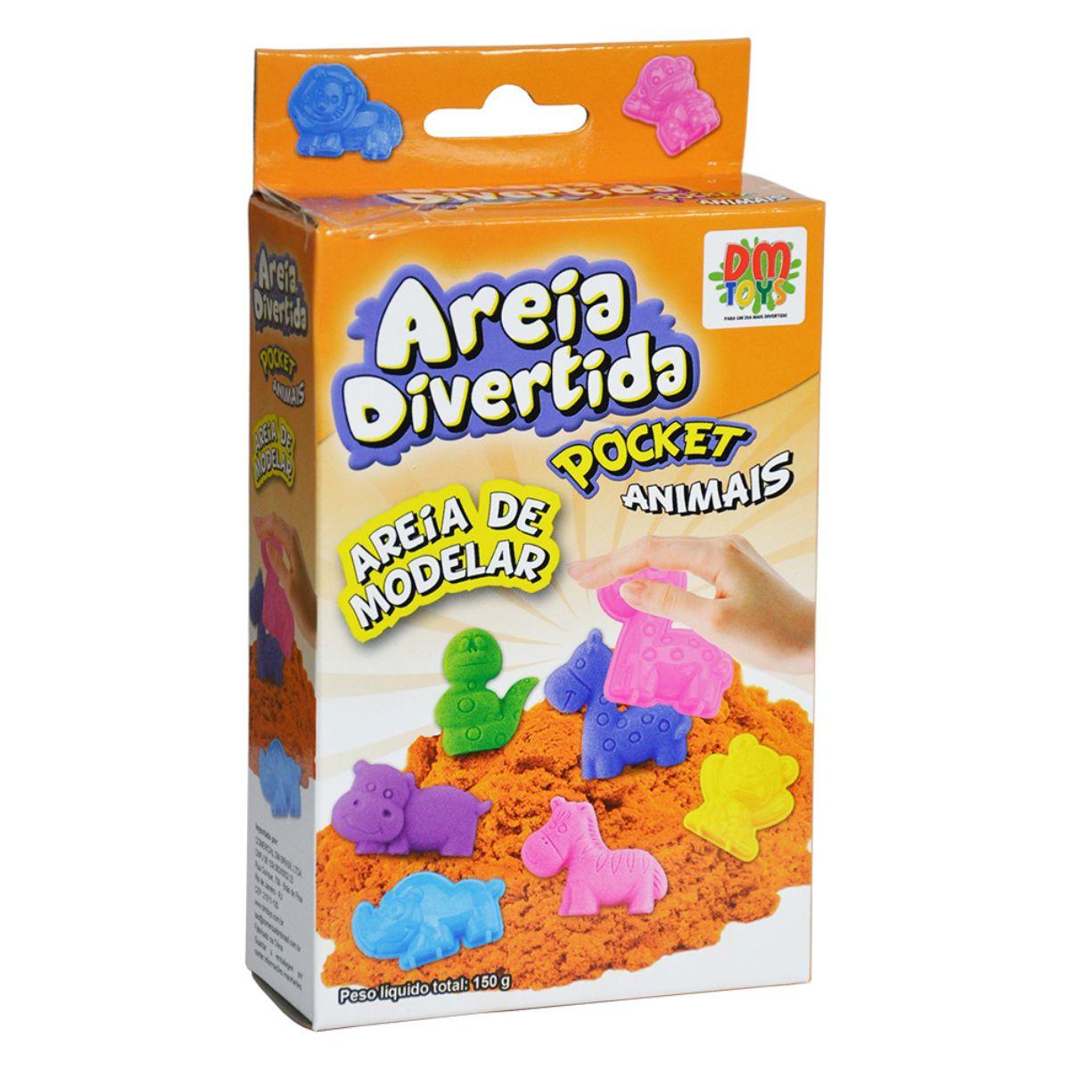 Areia Cinética Massinha de Areia Massa de Areia Areia Mágica Areia Divertida Areia Mágica Pocket Animais Dm Toys Brinquedo Infantil