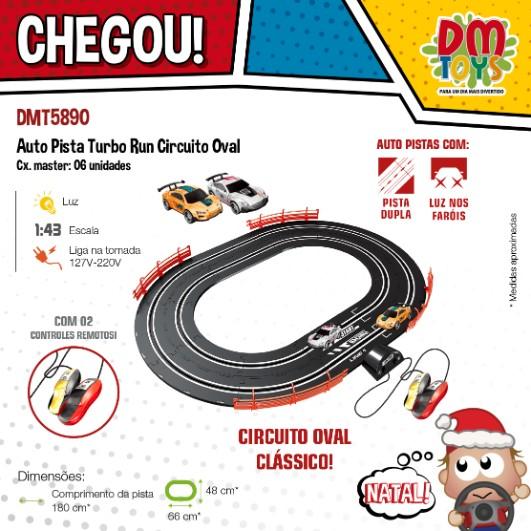 Auto pista Turbo Run circuito oval
