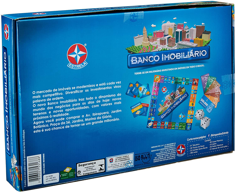 Banco imobiliario Jogo de Tabuleiro Estrela