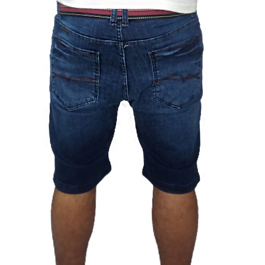Bermuda Jeans Masculina c/ Cinto Young Style