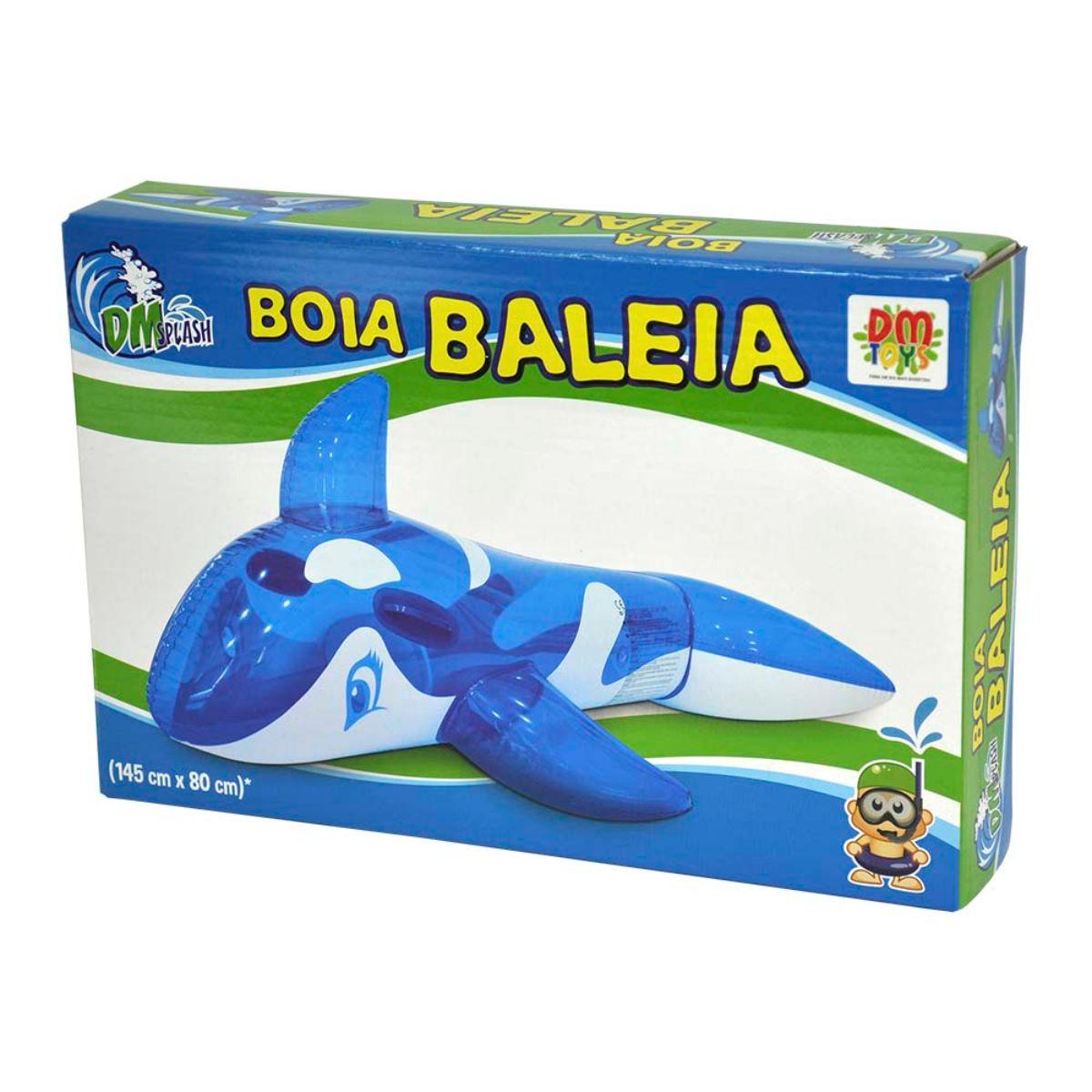 Boia Baleia DM Toys Infantil