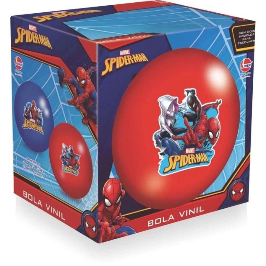 Bola Infantil em Vinil Spider Man Lider Brinquedos