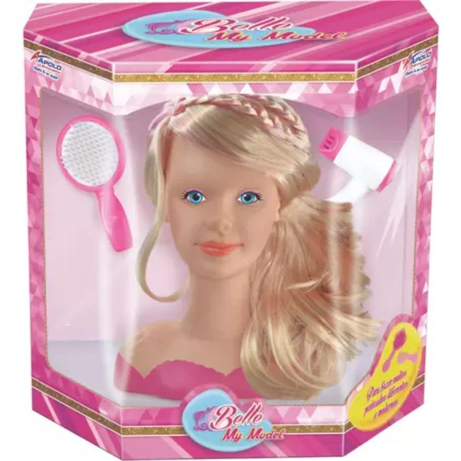 Boneca Belle My Model para Maquiar